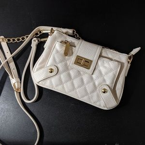 Charming Charlie's Off-White Cluch/Crossbody Bag